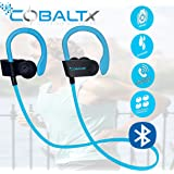 COBALTX Zero Gravity Sweat Resistant Super Lightweight Bluetooth Wireless Premium Stereo Headsets Sports Earphones 5 Hours