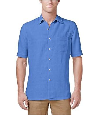 4967069077a Tasso Elba Mens Silk Blend Pattern Button-Down Shirt at Amazon Men s ...
