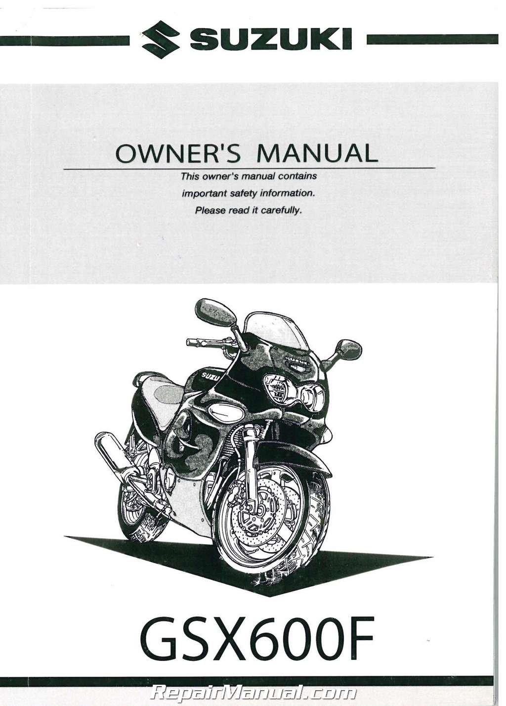 99011-19C63-03A 2001 Suzuki Katana GSX600F Motorcycle Owners ...