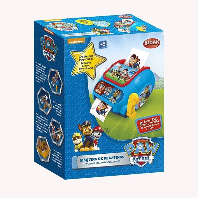 Patrulla Canina - Maquina De Pegatinas, (Bizak 35001303): Amazon.es: Juguetes y juegos