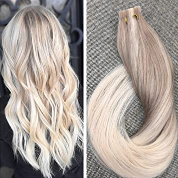 Amazon ugeat 24inch 50 gram ombre tape hair extensions ugeat 24inch 50 gram ombre tape hair extensions blonde color 18 dirty blonde with 22 pmusecretfo Image collections