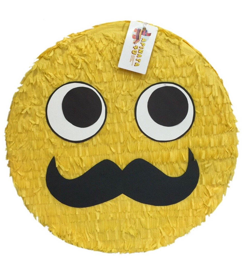 Gentleman Emoji Pinata with thick Mustache