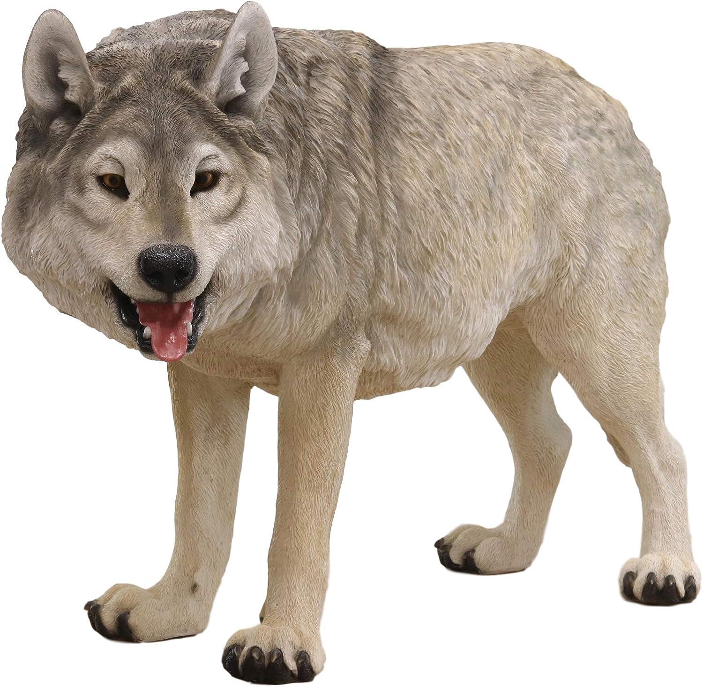 Amazon Com Ebros Realistic Large Wildlife Alpha Gray Wolf Statue