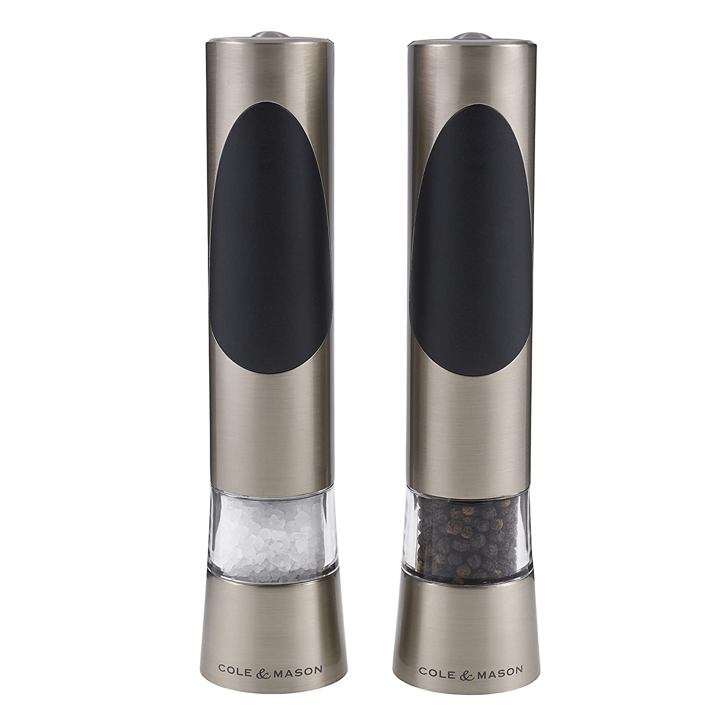 Cole & Mason Precision Grind Richmond Electronic Salt and Pepper Mill Gift Set, Brushed Steel/Silver, 21.5 cm DKB Household UK Ltd H90180P