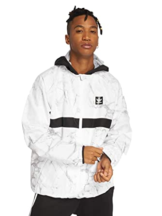c2f2bcef3b15 Adidas White-Solid Grey-Black Marble Bb - Packable Jacket (X-Large ...
