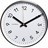 Cloudnola Now White and Silver Wall Clock Diam 12