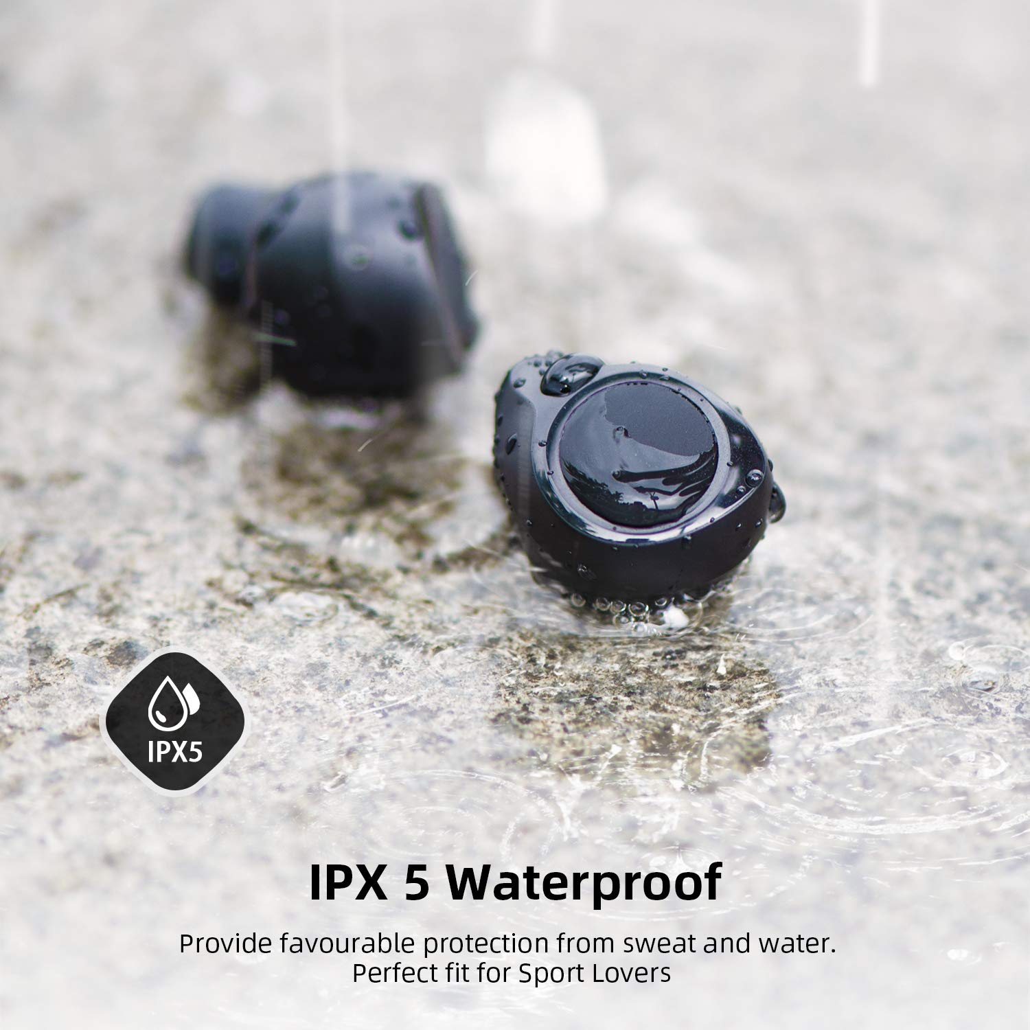 Bluetooth 5.0 Wireless Headphones, ENACFIRE Future Plus Wireless Bluetooth Earbuds with 104 Cycle Playing Time IPX5 Waterproof for Sport One-Key Control Hi-Fi Sound Quality Stable Connection by ENACFIRE (Image #2)