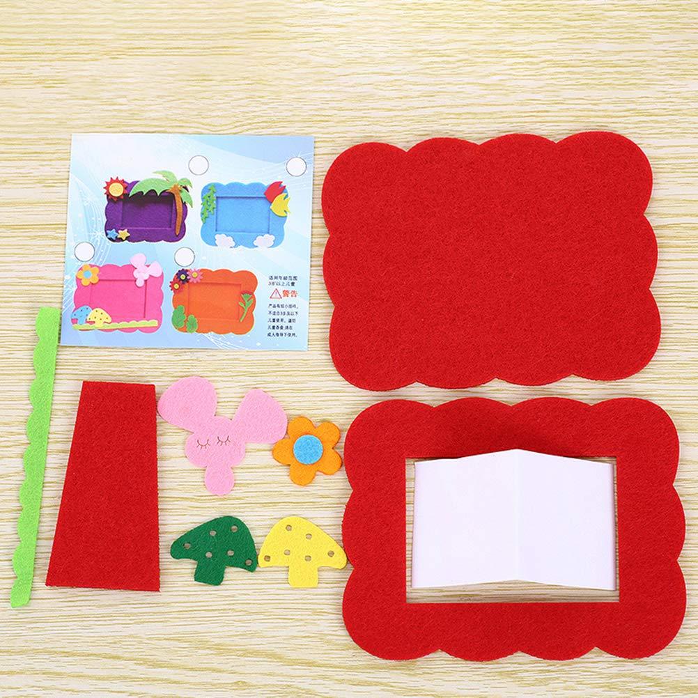 Supvox Portafoto non tessuto portafoto fai da te materiale di produzione per la casa 4 pezzi