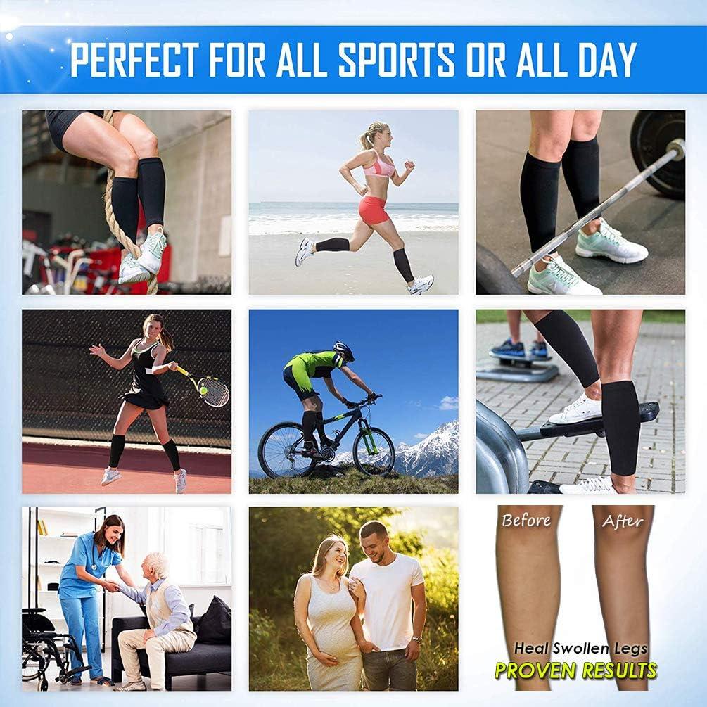 Calf Compression Sleeves Ristake Leg Compression Socks for Runners/&Shin Splint
