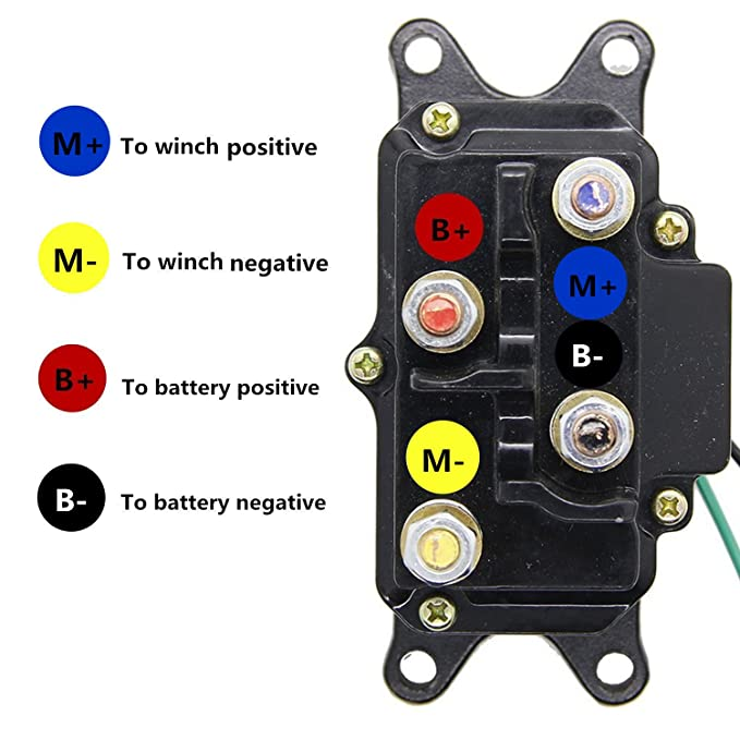 12V 250A Winch Solenoid Relay Contactor Thumb Truck for ATV UTV 4x4 Venom Winch Wiring Diagram For on