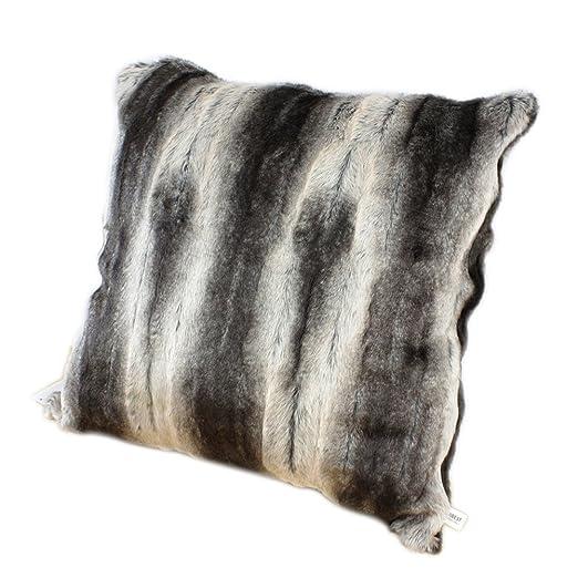 YANIBEST funda de cojín (pelo sintético cuadrado 45 cm x 45 ...
