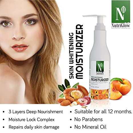 NutriGlow Advanced Organics Skin Whitening Moisturiser: 200