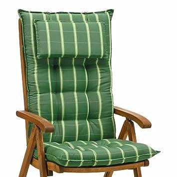 NEU Kettler Auflagen für Hochlehner Sessel 8 cm dick in blau Gartenmöbel Kissen