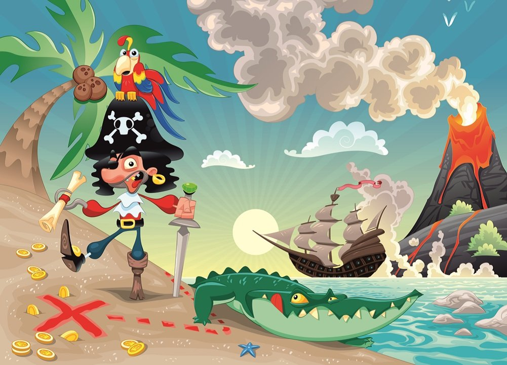Kids Wallpaper   PIRATE AND PARROT  Part 17