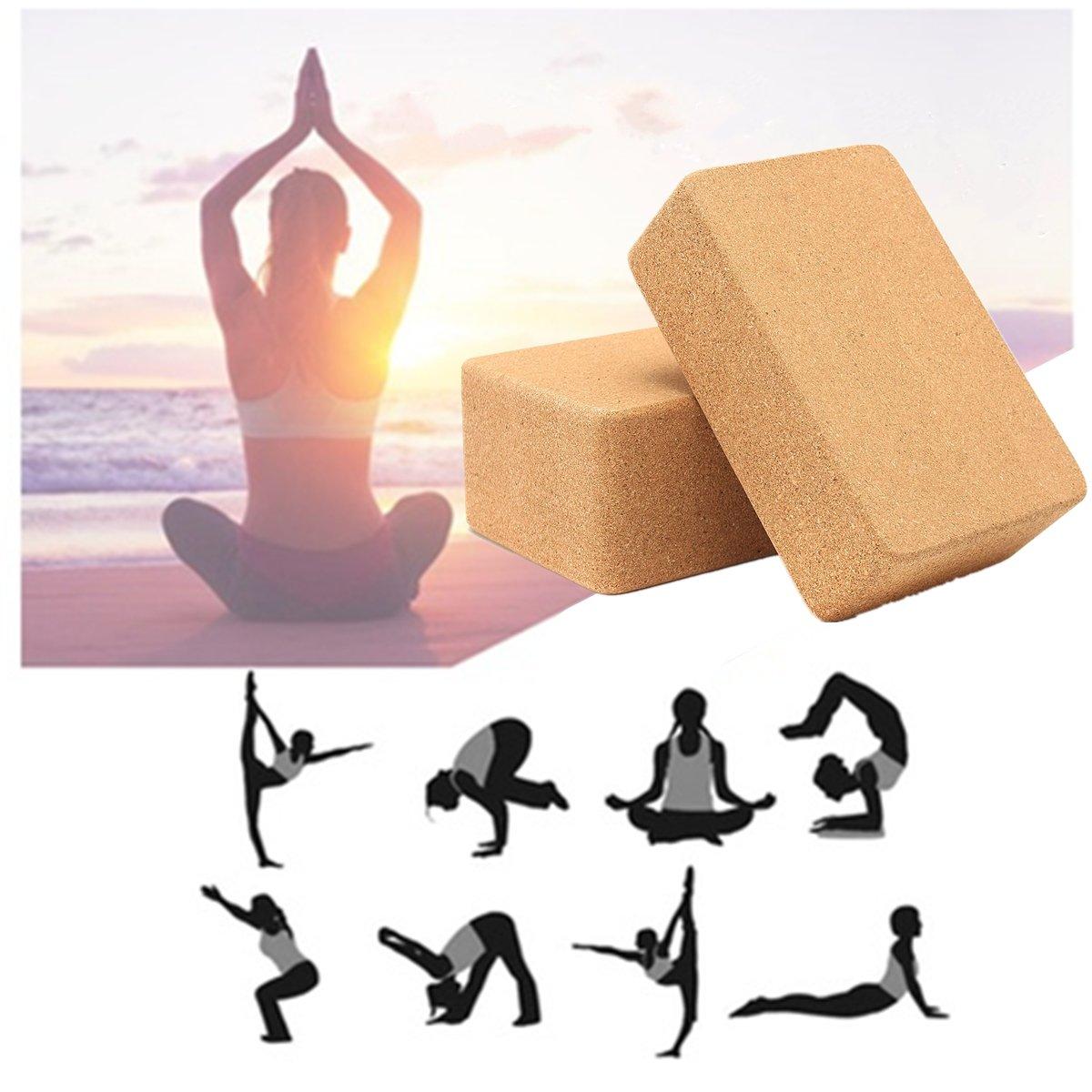 BZAHW Yoga Bloque de Corcho Inicio Estiramiento Gimnasio ...