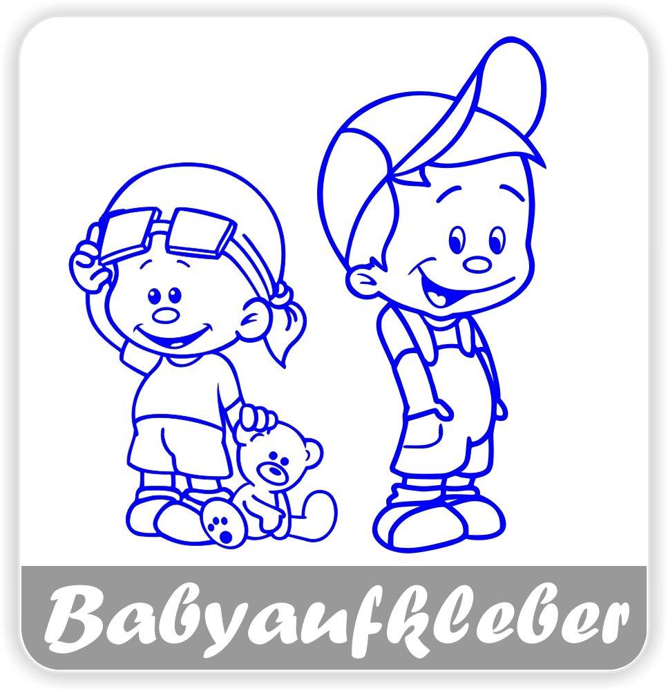 Babyaufkleber, Geschwisteraufkleber für Auto mit Wunschtext (GS-32) Druck-Gravur