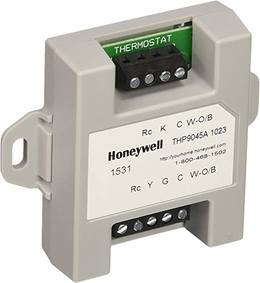 Honeywell THP9045A1023 Wiresaver Wiring Module for Thermostat on bosch furnace, magic chef furnace, goodman furnace, general 10.99 humidifier furnace, electronic air filter for furnace, lear siegler furnace, haier furnace, air intake damper for furnace, valve in furnace, jenn air furnace, frigidaire furnace, rinnai furnace, built in humidifier in furnace, electronic air purifier for furnace, fedders furnace, universal pressure switch for furnace, blue gas furnace, emerson furnace, viking furnace, microsoft furnace,