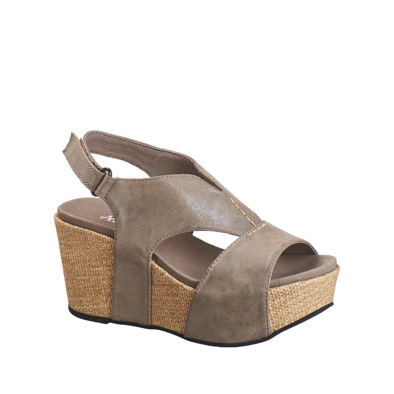 Antelope Women's 855 Metallic Leather V Cut Texture Sandals B01MV3Y8IA 10 B(M) US / 41 EU|Pewter