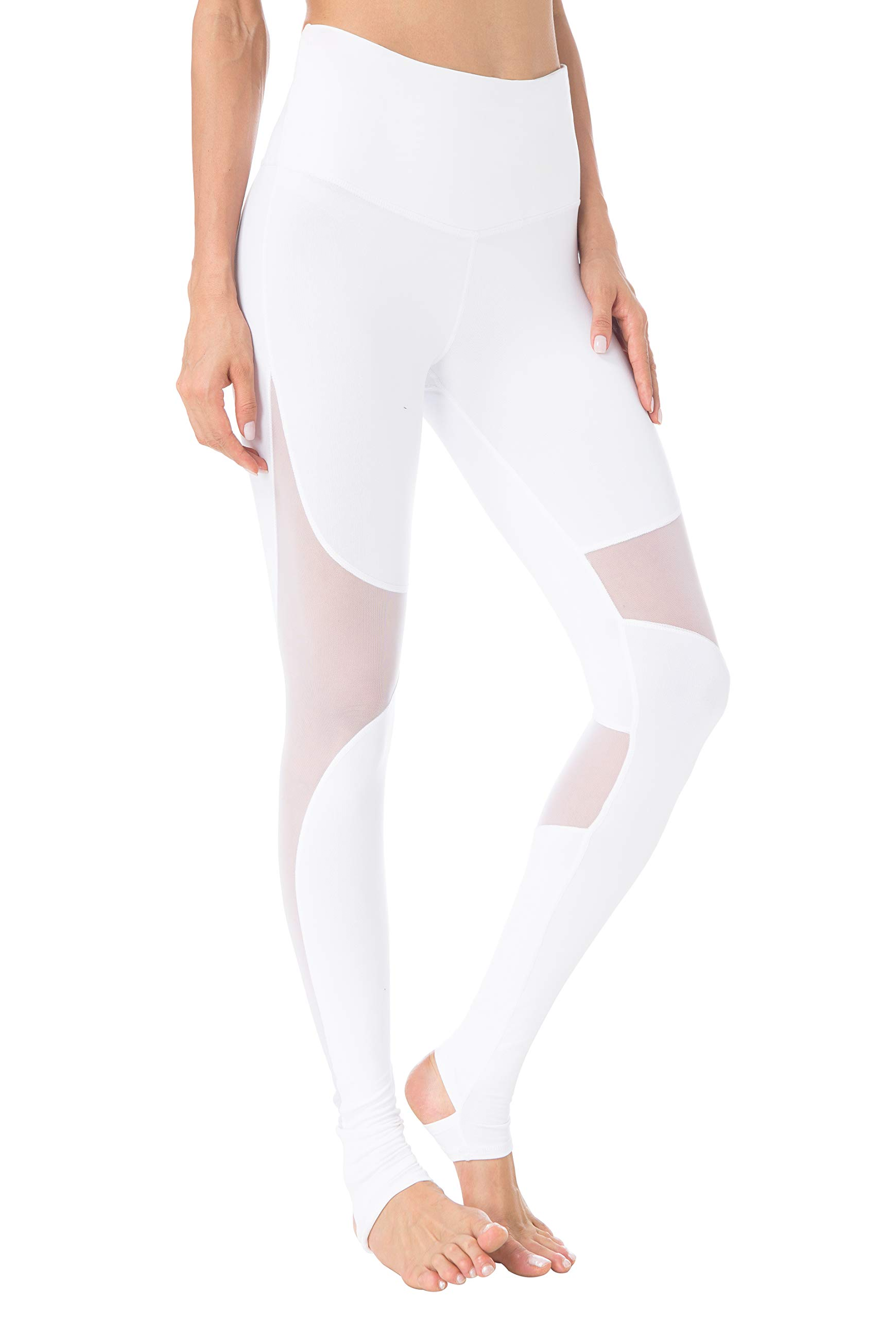 14ccbd5788 Galleon - Queenie Ke Women Power Stretch Leggings Plus Size Yoga Pants  Running Tights Size L Color White Stirrup