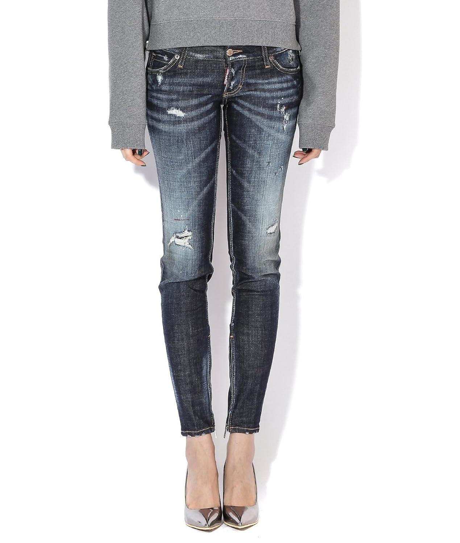 DSquared2 Women's Lettering Patch Detail Damaged Jeans