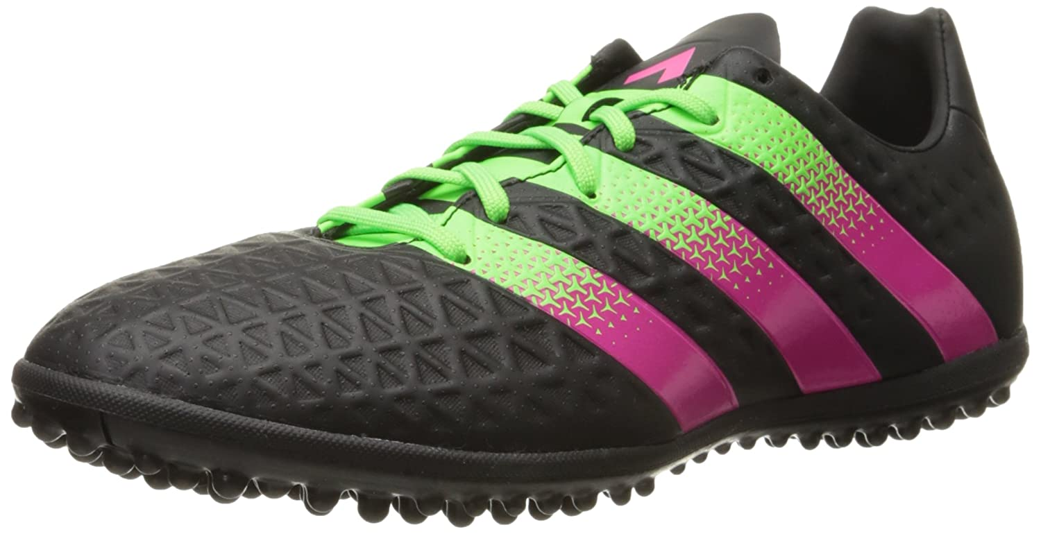 new product e1c78 a01ad Amazon.com   adidas Performance Men s Ace 16.3 TF Soccer Shoe, Black Shock  Green Shock Pink, 7.5 M US   Soccer