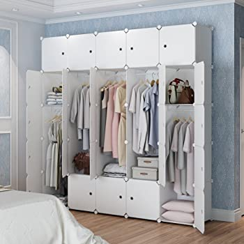 MAGINELS Magicial Panels Wardrobe Portable Closet Organizer Clothes Armoire  Cube Storage Dresser For Bedroom, Large