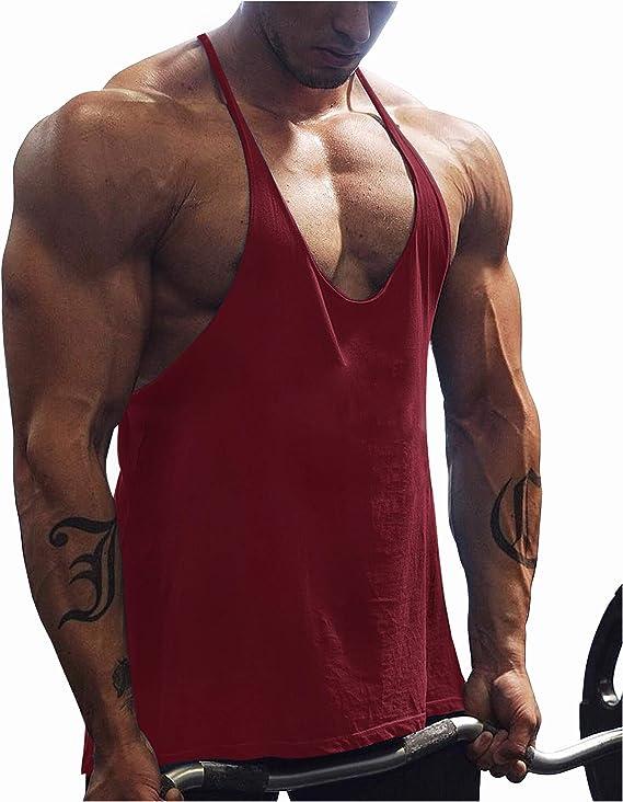GymRevolution Men's Athletic Stringer Gym Muscle Workout Racerback Fitness Tank Tops