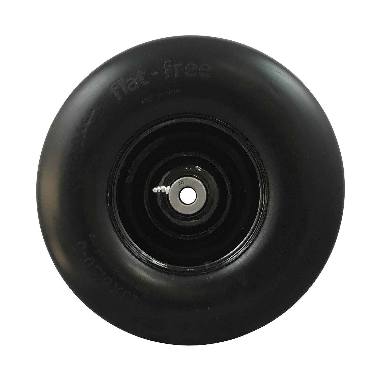 MARASTAR 00242 Universal Fit Flat Free 13x6.50-6 Lawnmower Tire Assembly 1 Pack