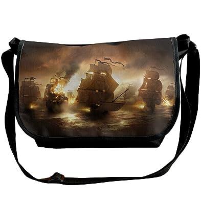 c47731470666 Amazon.com: Retro Pirate Ship Windstorm Casual Messenger School ...