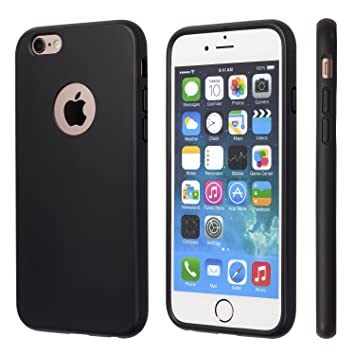 competitive price 886d9 9f665 totallee iPhone 6 Case, iPhone 6s Case, Black Durable Shock Absorbing  Rubber Cover with Excellent Grip fits 4.7 inch iPhone - Tough & Protective  and ...