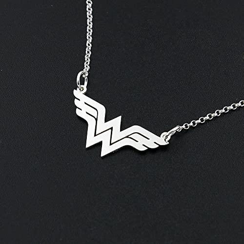 Amazon Dainty Delicate Wonder Woman Handmade Necklace Bar