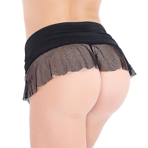 30e69fb5a4133 TiaoBug Women's Sexy Stretch See-Through Mesh Fishnet Micro Mini Low Rise  Skirt: Amazon.co.uk: Clothing