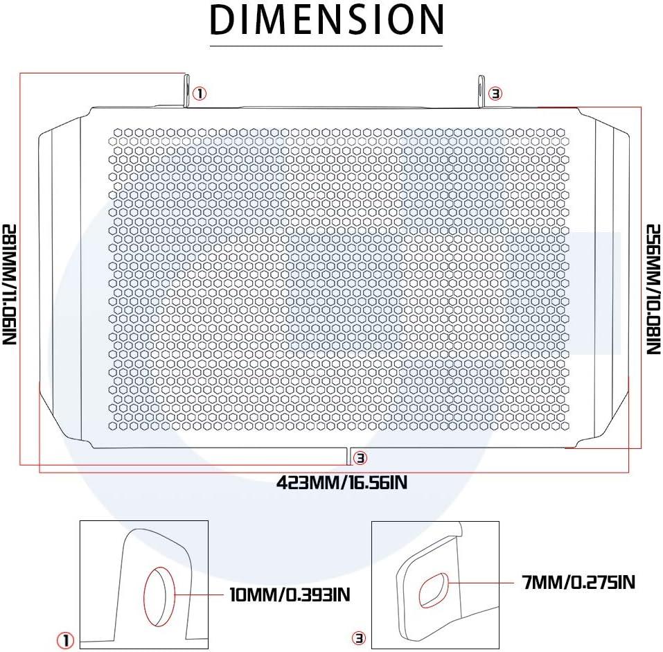 Z750 Z800 Z1000 Wasserkühler Kühlergrill Schutz Für Kawasaki Z750 2007 2012 Z800 2013 2017 Z1000 2007 2018 Z1000sx Ninja 1000 2010 2018 Versys 1000 2012 2018 Auto