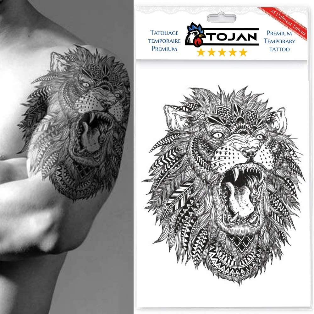 Tojan Temporal Tattoo Animals/Paquete de 4 Tablones Diferentes ...