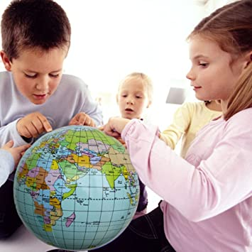 Amazon mytoy 40cm early educational inflatable earth world mytoy 40cm early educational inflatable earth world geography globe map balloon toy beach ball gumiabroncs Choice Image