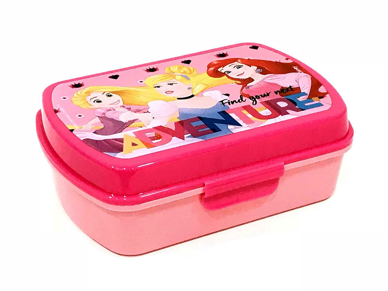 Kids PS18001 - Disney Principesse Portapranzo, Portamerenda, Pvc, Bambina, Rosa, Ariel, Cenerentola, Rapunzel