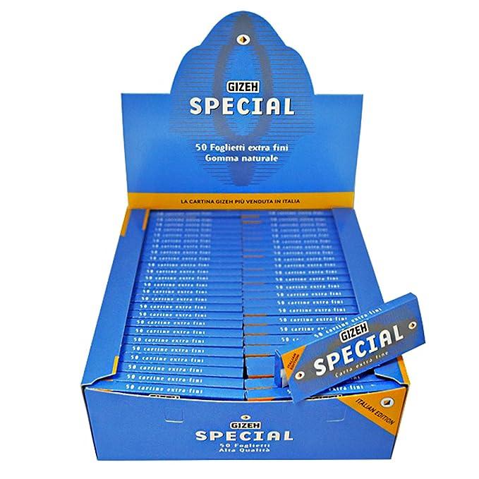 8 opinioni per Cartine GIZEH special CORTE Bianche extra fine 1 box 100 pz 5000 foglietti nuova
