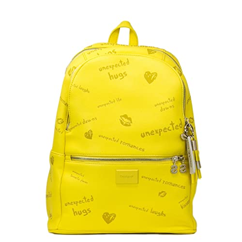 Desigual Backpack Woman Bols Tell Me Milan 18saxpht Uni Yellow