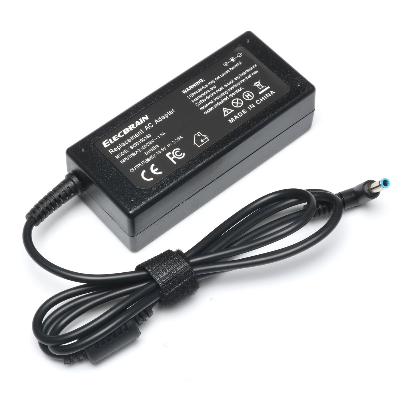 ELECBRAiN 19.5V 3.33A AC Adapter Charger for HP 15-F009WM 15-F023WM 15-F039WM 15-F059WM 15-g073nr F9H92UA 15-g074nr Laptop 4.5/3.0mm Power Supply with Cord by ELECBRAiN (Image #4)