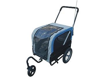 Cochecito y remolque de bicicleta para perros con rueda giratoria y transportadora para gatos, para