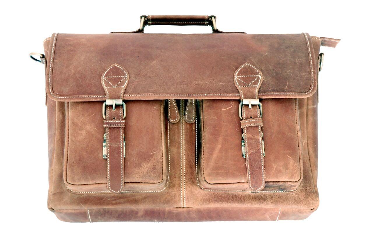 03c15d522ee3d9 Sperry Leather hunter vintage Handmade Genuine Leather Laptop Briefcase  Messenger Bag 80%OFF