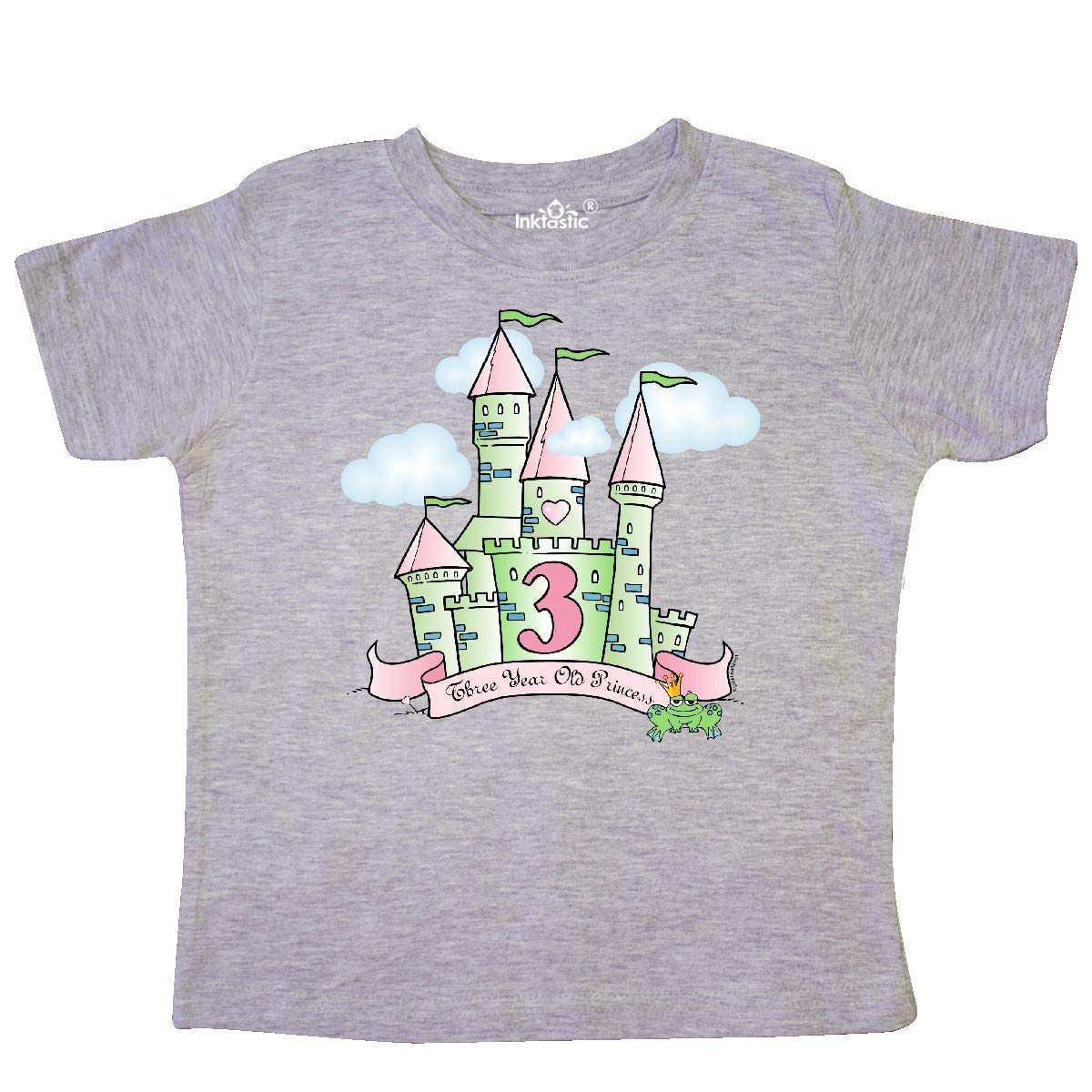 inktastic Castle 3rd Birthday Princess Toddler T-Shirt