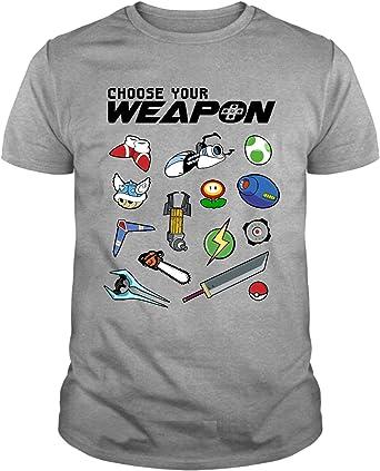 The Fan Tee Camiseta de Mujer Choose Your Weapon Retro Gamer Friki Juego Espacio Consola: Amazon.es: Ropa y accesorios