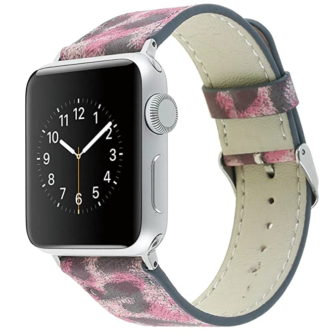 smarmate 38 mm Apple Watch Banda, Correa de piel leopardo de smart ...