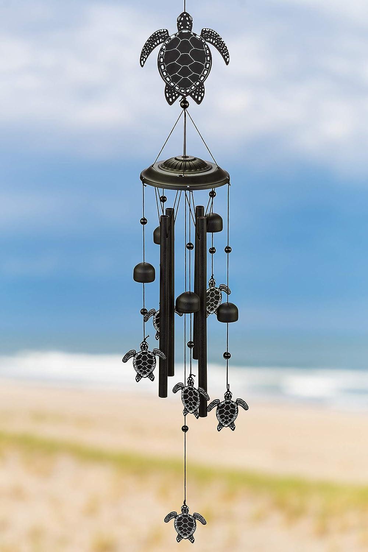 VP Home Sea Turtles Outdoor Garden Decor Wind Chime (Black)