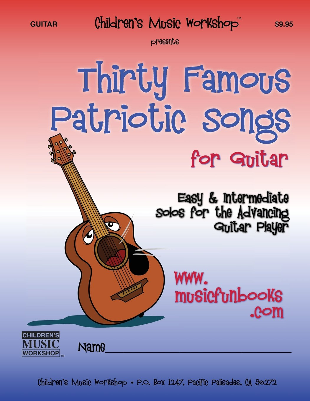 Amazon Thirty Famous Patriotic Songs For Guitar Easy And