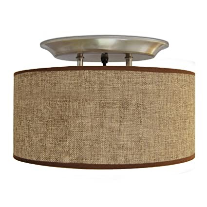 Amazon dream lighting 12v fabric light fixture with brown dream lighting 12v fabric light fixture with brown burlap elliptical oval ceiling light shade led aloadofball