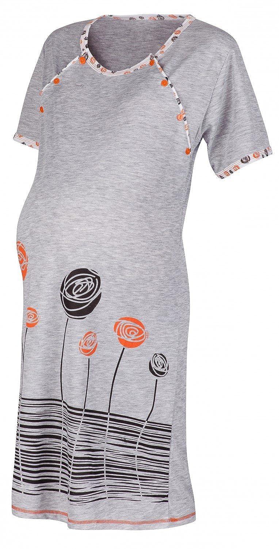 135p Happy Mama Para Mujer Camis/ón flores premam/á de embarazo y lactancia