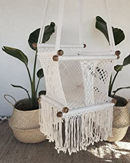 Crochet Hanging Chair Macrame Art Baby Room Decor Boho Chic