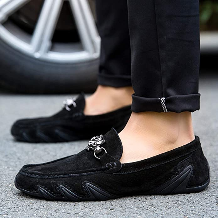 Amazon.com | New 2019 Brand Summer Style Men Loafers Genuine Leather Shoes Men Flats Casual Shoes Zapatos Hombre Mocasin Cuero | Loafers & Slip-Ons